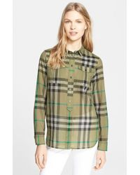 Burberry Brit Woven Check Tunic Shirt - Lyst