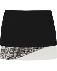 Helmut Lang Layered Crepe Mini Skirt - Lyst