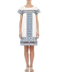 Sea Embellished Dobby-Weave Dress - Lyst