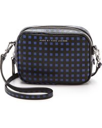 Marc By Marc Jacobs Space Check Camera Bag - Pure Blue Multi - Lyst