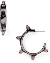 T Tahari - Spike Hoop Earrings - Lyst