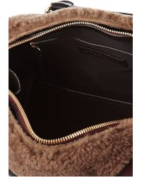 Burberry Prorsum - Prorsum Shearling And Leather Tote - Lyst