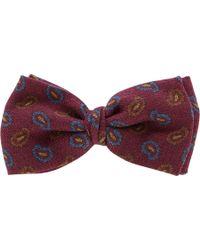 Barneys New York Paisley Bow Tie - Lyst