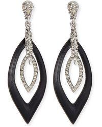 Alexis Bittar Orbital Marquise Crystal  Lucite Earrings - Lyst