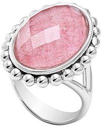 Lagos 'Maya' Oval Doublet Ring - Rhodochrosite pink - Lyst