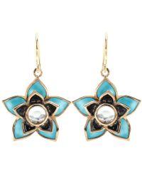 Isharya | Lotus 18kt Goldplated Earrings | Lyst