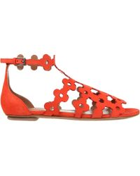 Alaïa Sandals red - Lyst
