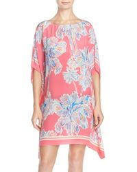 Lilly Pulitzer - 'lindamarie' Crepe De Chine Caftan Dress - Lyst