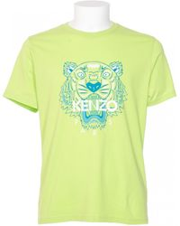 Kenzo Green Cotton T-Shirt Tiger Print - Lyst