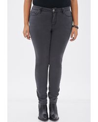 Forever 21 Low-Rise Skinny Jeans - Lyst