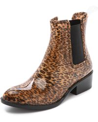 Jeffrey Campbell Stormy Rain Booties - Cheetah - Lyst