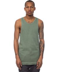 John Elliott | Flatback Thermal Mercer Tank In Washed Olive | Lyst
