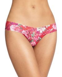 Hanky Panky Blooming Plaid Low-rise Thong - Lyst