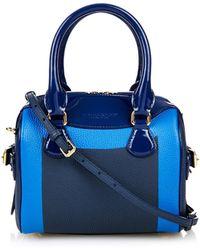 Burberry Prorsum Little Bee Colour-Block Leather Cross-Body Bag blue - Lyst