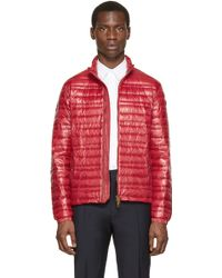 Burberry Brit - Red Lightweight Quilted Down Jacket - Lyst