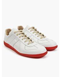 Maison Martin Margiela 22 Mens White Leather Replica Sneakers - Lyst