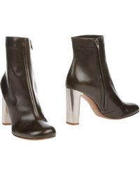 Celine Black Ankle Boots - Lyst