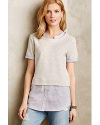 Anthropologie Picnic Plaid Layered Sweatshirt - Lyst