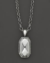 Lagos - Sterling Silver Rocks Pendant On Link Chain 18 - Lyst