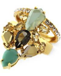 Vince Camuto - Gold-Tone Multicolour Stone Cluster Ring - Lyst