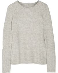 Enza Costa Long-Sleeved Knitted Sweater - Lyst