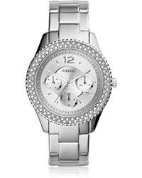 Fossil - Stella Silver Tone Stainless Steel Women's Watch - Lyst
