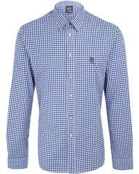 McQ by Alexander McQueen Navy Check Harness Shirt - Lyst