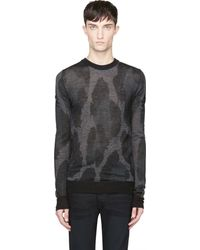 Diesel Black and Grey Knit Camo K_milta Sweater - Lyst