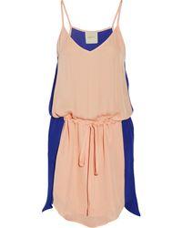 Mason by Michelle Mason Two-Tone Silk-Georgette Mini Dress - Lyst