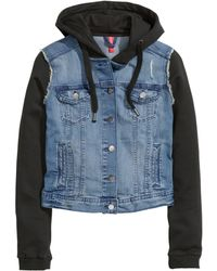 H&M Denim Jacket With A Hood - Lyst