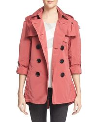Burberry Brit - Burberry Knightsdale Belted Drop Tail Hooded Trench Coat - Lyst