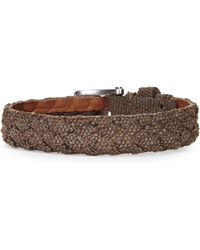 John Varvatos | Chocolate Braided Canvas Cuff | Lyst