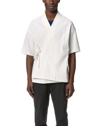 Shades of Grey by Micah Cohen - Short Sleeve Side Tie Kimono - Lyst
