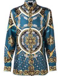 Versace Crown Print Shirt - Lyst