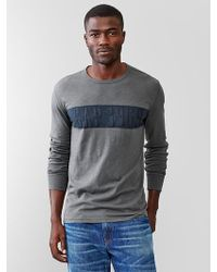 Gap Chest Stripe T-Shirt - Lyst