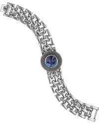 Sam Edelman Blue Stone Watchband Bracelet - Lyst