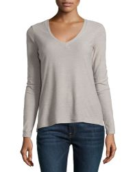 James Perse Long-sleeve V-neck Tee - Lyst