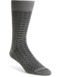 Hook + Albert - 'gray' Diamond Socks - Lyst