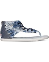 Converse Women'S Chuck Taylor Gladiator Thong Sandals From Finish Line blue - Lyst
