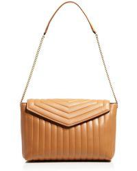 Ferragamo Shoulder Bag - Rosy Medium Quilted Envelope - Lyst