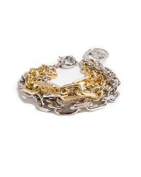 Giles & Brother 2toned Crystal Link Bracelet - Lyst
