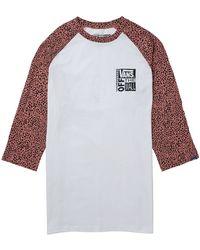 Vans Trick Ave Raglan 3/4 Sleeve T-Shirt - Lyst