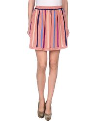 See By Chloé Pink Mini Skirt - Lyst