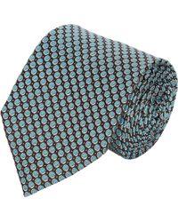 Armani Micro-dot  Circle-pattern Jacquard Neck Tie - Lyst
