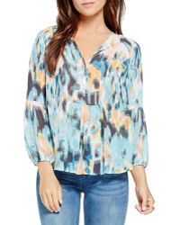 Two By Vince Camuto - Abstract Print Blouse - Lyst