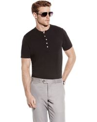 Vince Camuto Slim Fit Henley - Lyst