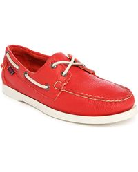 Sebago | Docksides Pr Red Boat Shoes With White Sole | Lyst