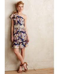Anna Sui Canary Silk Dress blue - Lyst