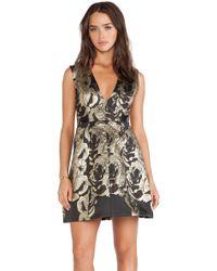 Alice + Olivia Pacey Lantern Dress - Lyst
