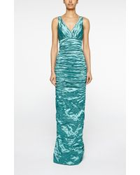 Nicole Miller Keira Techno Metal Gown - Lyst